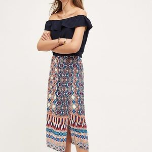 NWT Anthropologie Olympia Silk Skirt by HD Paris